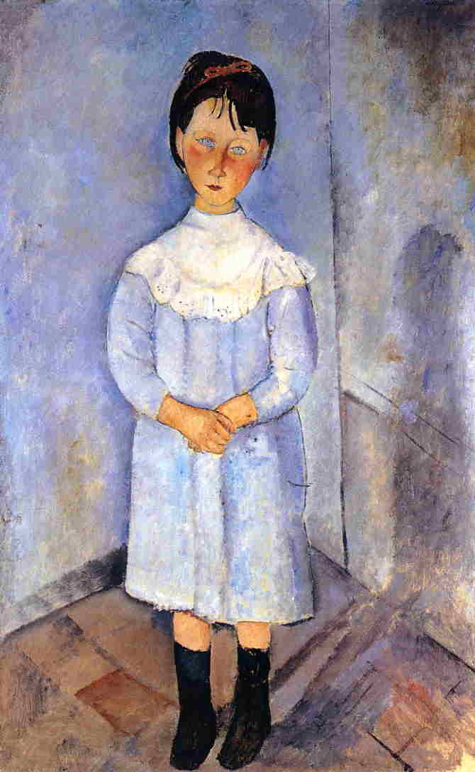 little girl in blue 1918 XX private collection